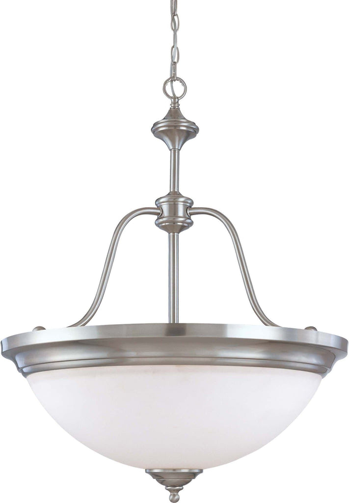 Nuvo Glenwood - 4 Light Large 34 inch Pendant w/ Satin White Glass