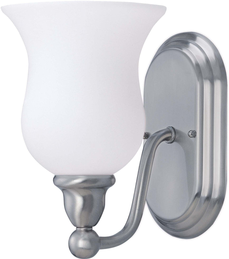 Nuvo Glenwood - 1 Light Vanity w/ Satin White Glass