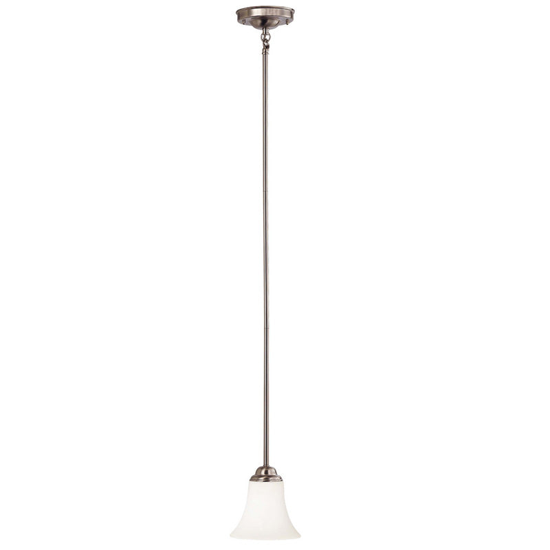 Nuvo Dupont - 1 Light Mini Pendant w/ Satin White Glass