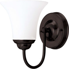 "Nuvo Dupont 1-Light 6"" Vanity Fixture w/ Satin Glass in Dark Chocolate Bronze"