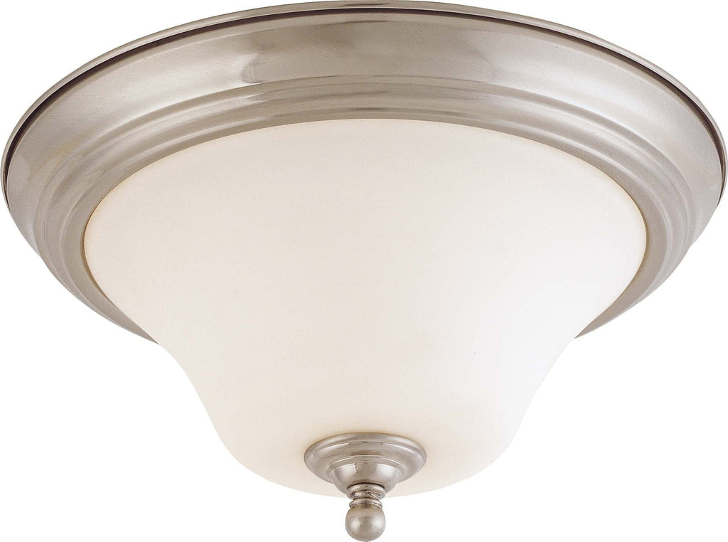 Nuvo Dupont ES - 2 light 13 in Flush Mount w/ Satin White Glass - 13w GU24 Lamps
