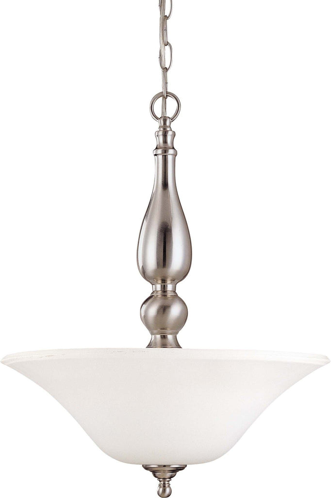 Nuvo Dupont ES - 3 Light Pendant w/ Satin White Glass - 13w GU24 Lamps Included