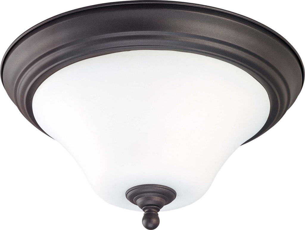 Nuvo Dupont ES - 2 light 13 inch Flush Mount w/ Satin White Glass - 13w GU24 Lamps Included