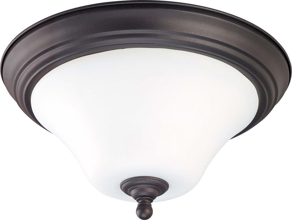 Nuvo Dupont ES - 2 light 15 inch Flush Mount w/ Satin White Glass - 13w GU24 Lamps Included