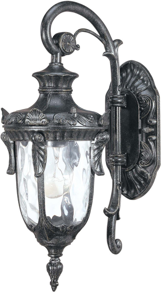 Nuvo Dunmore - 1 Light Mid-Size Wall Lantern- Arm Down w/ Clear Water Glass
