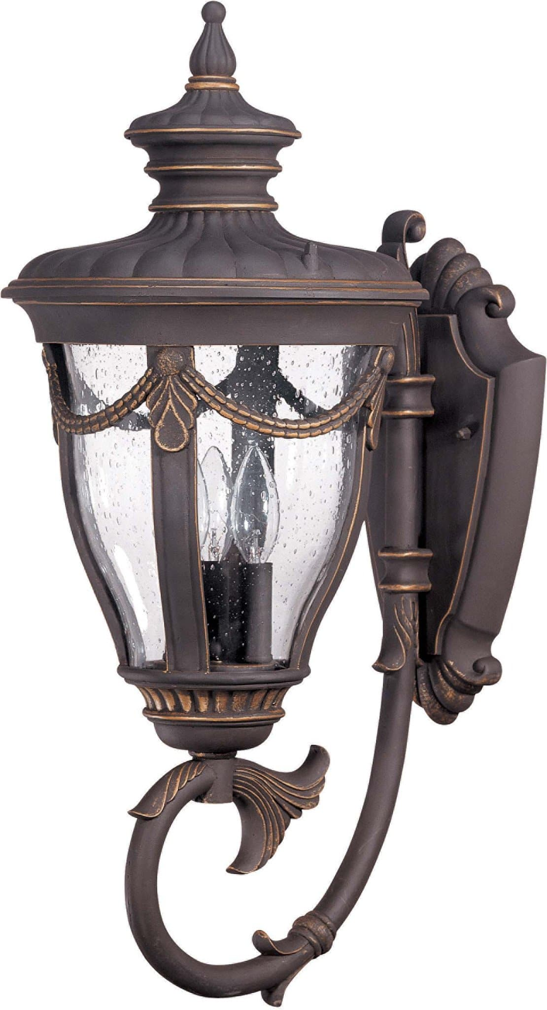 Nuvo Philippe 3 Light Large Wall Lantern Arm Up W