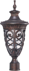 Nuvo Aston - 1 Light Mid-Size Post Lantern w/ Seeded Glass
