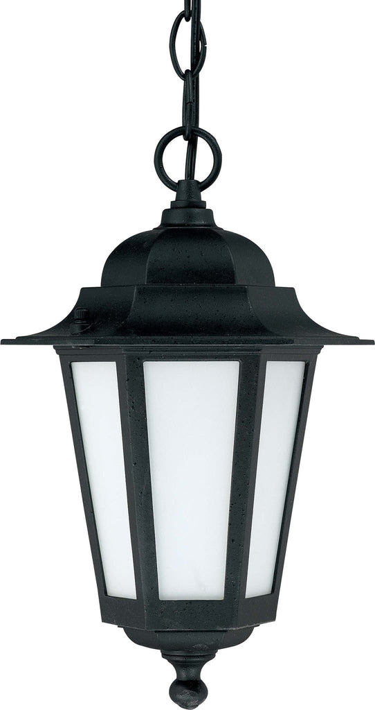 Nuvo Cornerstone ES - 13in - CFL Hanging Lantern w/ Satin White Glass, 13w GU24