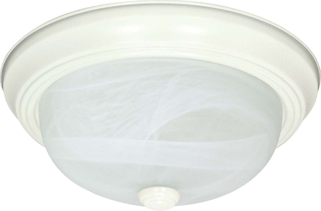 Nuvo 3 Light - 15 inch - Flush Mount - Alabaster Glass