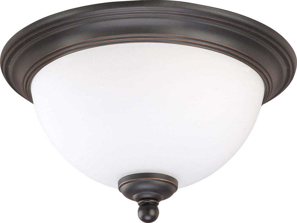 Nuvo Glenwood ES - 1 Light 11 inch Flush Dome w/ Satin White Glass - (Lamp Included)