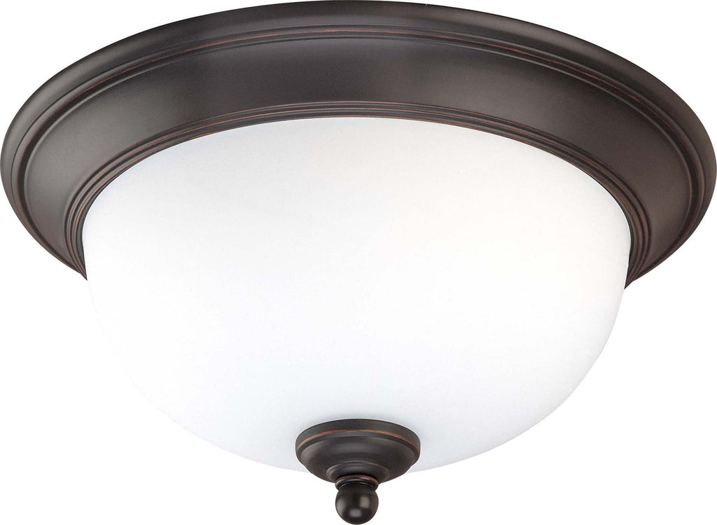 Nuvo Glenwood ES - 2 Light 13 inch Flush Dome w/ Satin White Glass - (Lamp Included)
