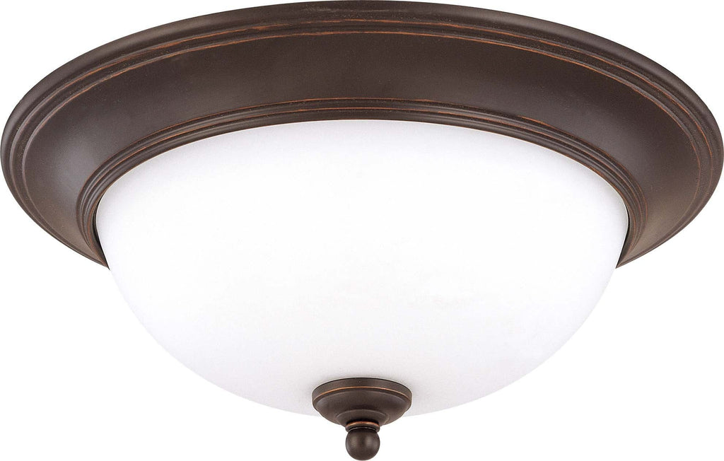 Nuvo Glenwood ES - 2 Light 16 inch Flush Dome w/ Satin White Glass - (Lamp Included)