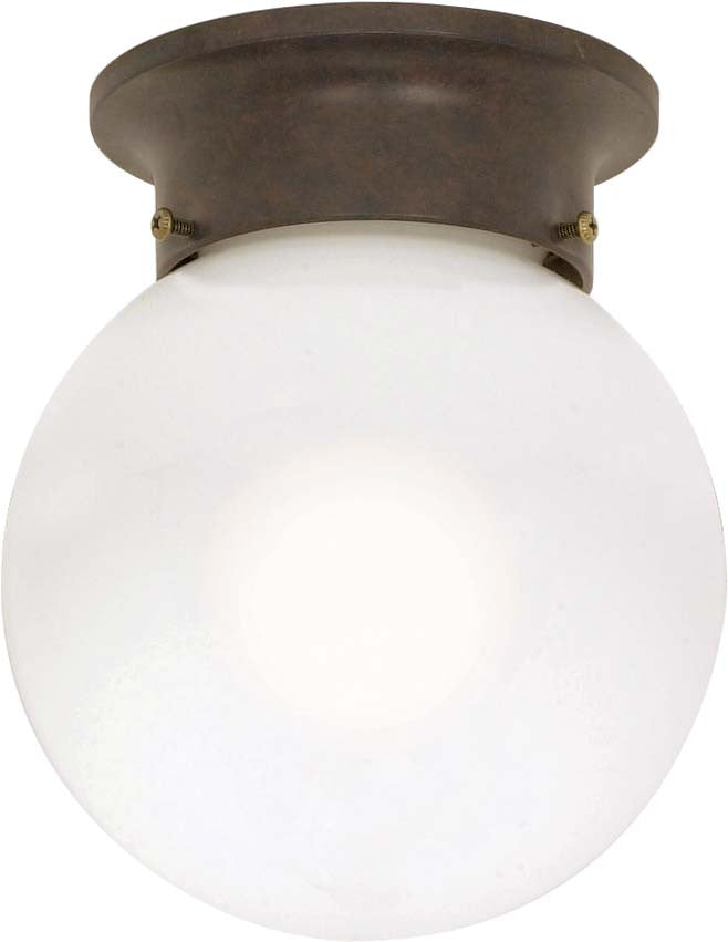 Nuvo 1 Light - 6 inch - Ceiling Mount - White Ball