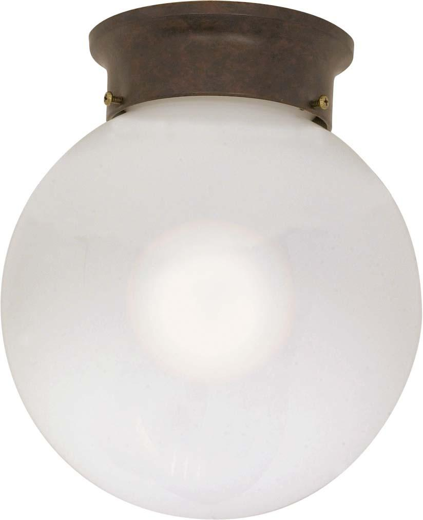 Nuvo 1 Light - 8 inch - Ceiling Mount - White Ball