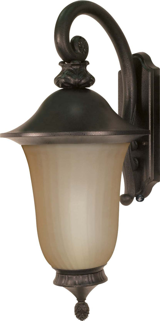 Nuvo Parisian ES - 3 Light Wall Lantern Arm Down w/ Champagne Glass - (Lamp Included)
