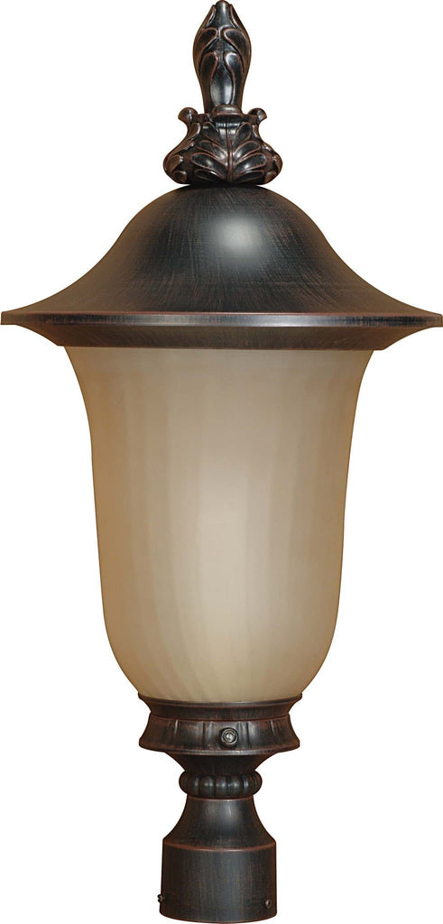Nuvo Parisian ES - 3 Light Post Lantern w/ Champagne Glass - (Lamp Included)