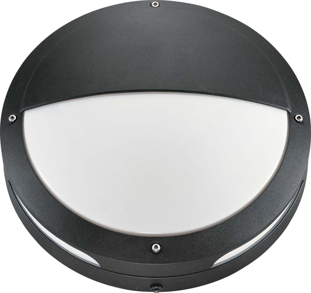 Nuvo Hudson ES - 2 Light 18w GU24 - 13 inch Round Hooded Wall Ceiling Fixture
