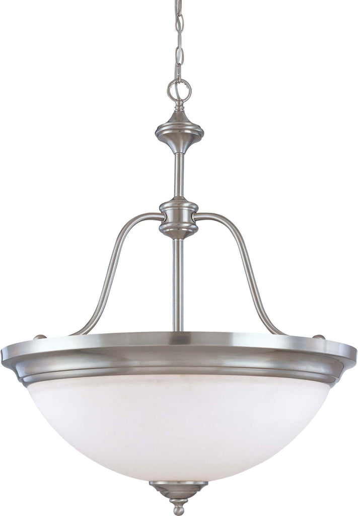 Nuvo Glenwood ES - 4 Light Large Pendant w/ Satin White Glass - (Lamps Included)
