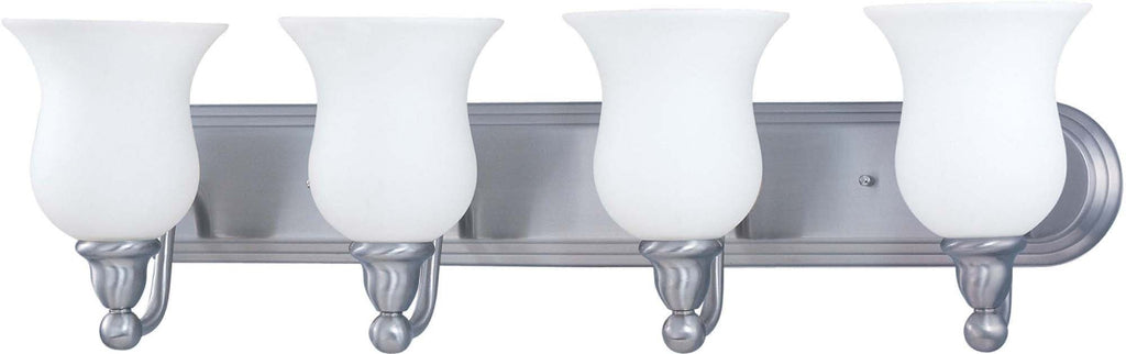 Nuvo Glenwood ES - 4 Light Vanity w/ Satin White Glass - (Lamps Included)