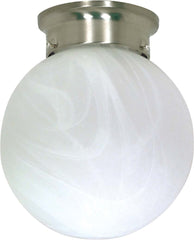 Nuvo 1 Light - 8 inch - Ceiling Mount - Alabaster Ball