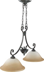 Nuvo Montgomery - 2 Light Trestle w/ Champagne Linen Glass