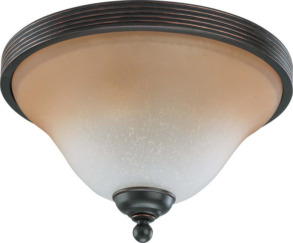Nuvo Montgomery - 2 Light 13 inch Flush Dome w/ Champagne Linen Glass