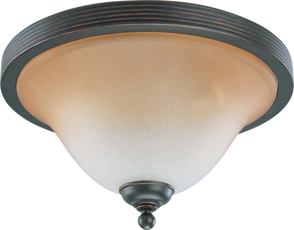 Nuvo Montgomery - 3 Light 15 inch Flush Dome w/ Champagne Linen Glass
