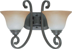 Nuvo Montgomery - 2 Light Vanity w/ Champagne Linen Glass