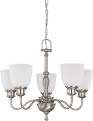 Nuvo Bella - 5 Light (arms up) Chandelier w/ Frosted Linen Glass