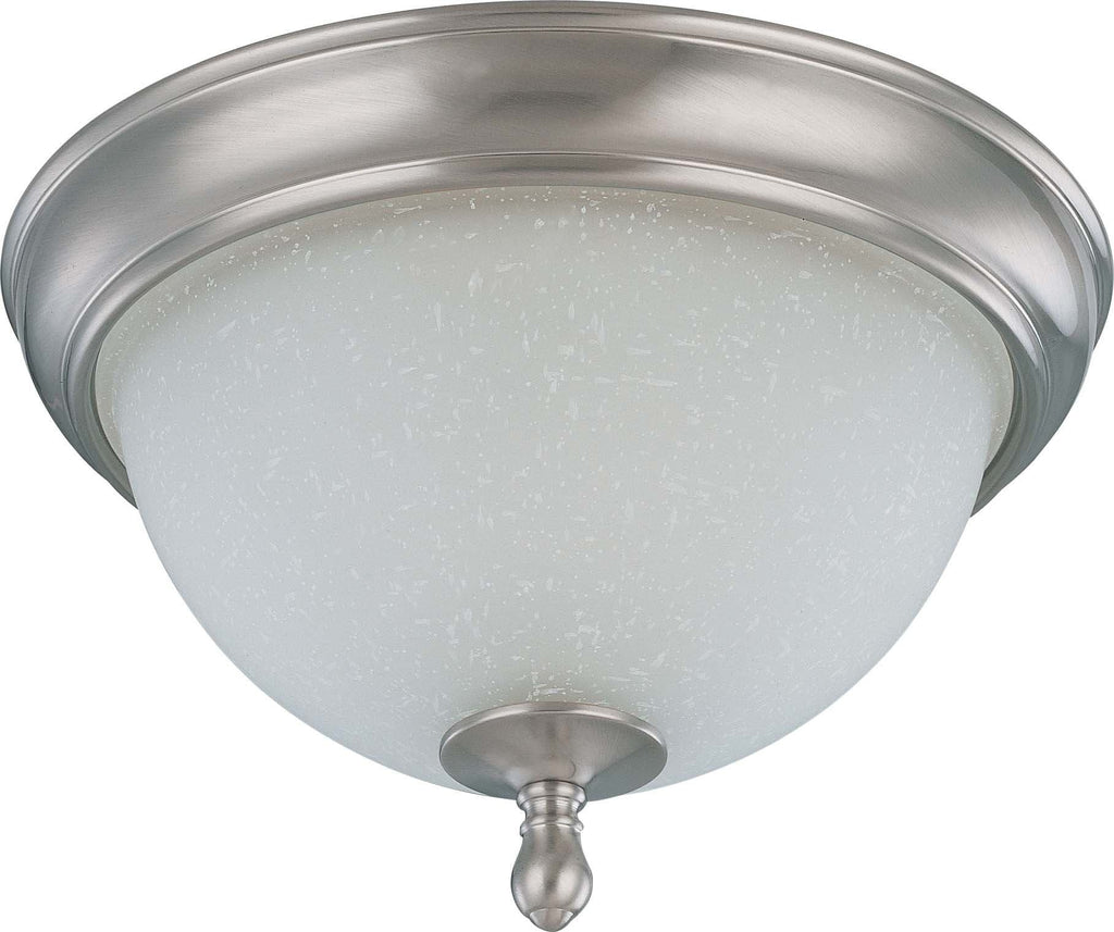 Nuvo Bella - 2 Light 11 inch Flush Dome w/ Frosted Linen Glass