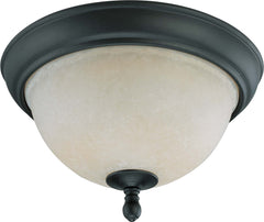 Nuvo Bella - 2 Light 11 inch Flush Dome w/ Biscotti Glass