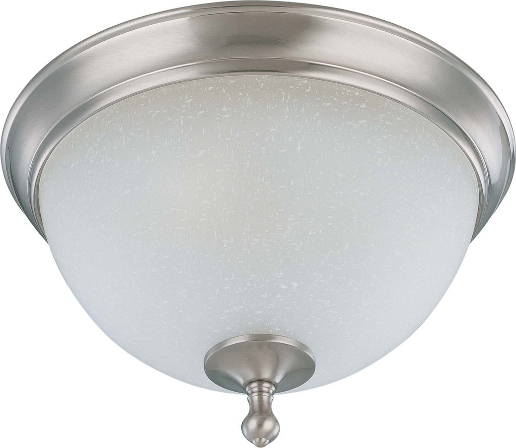 Nuvo Bella - 2 Light 13 inch Flush Dome w/ Frosted Linen Glass