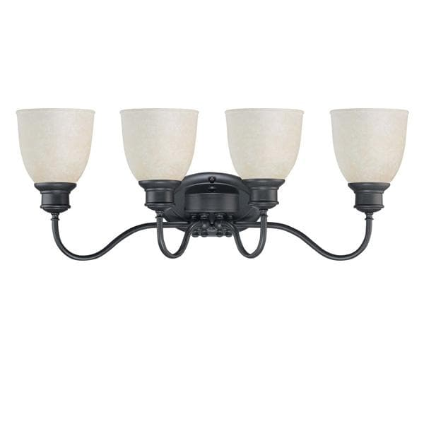 Nuvo Bella - 4 Light Vanity w/ Biscotti Glass