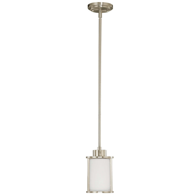 Nuvo Odeon - 1 Light Mini Pendant w/ Satin White Glass
