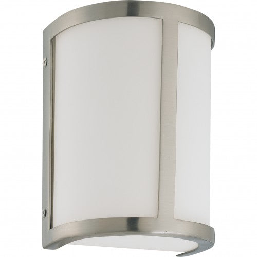 Nuvo Odeon - 1 Light Wall Sconce w/ Satin White Glass