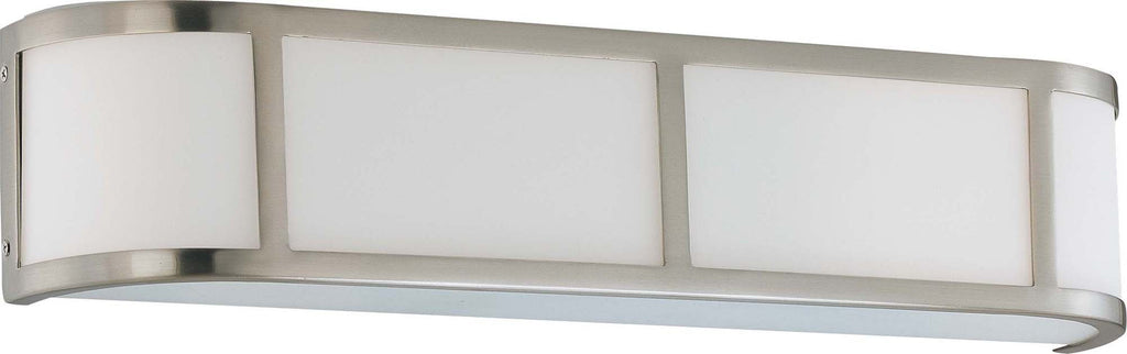 Nuvo Odeon - 3 Light Wall Sconce w/ Satin White Glass
