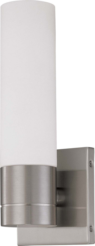 Nuvo Link - 1 Light Tube Wall Sconce w/ White Glass