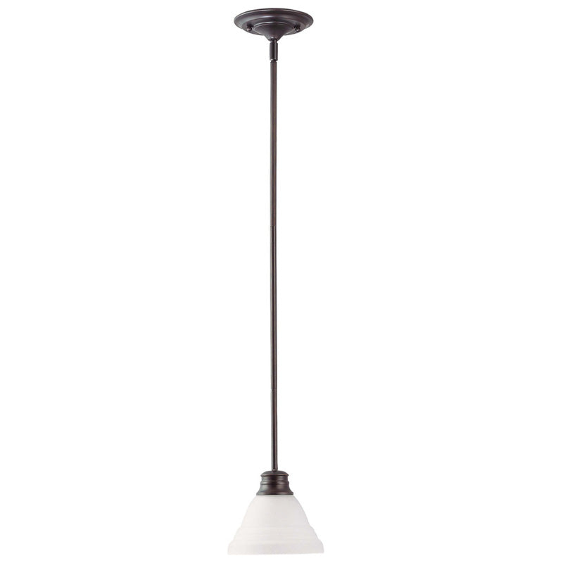 Nuvo Empire - 1 Light 7 inch Mini Pendant w/ Frosted White Glass