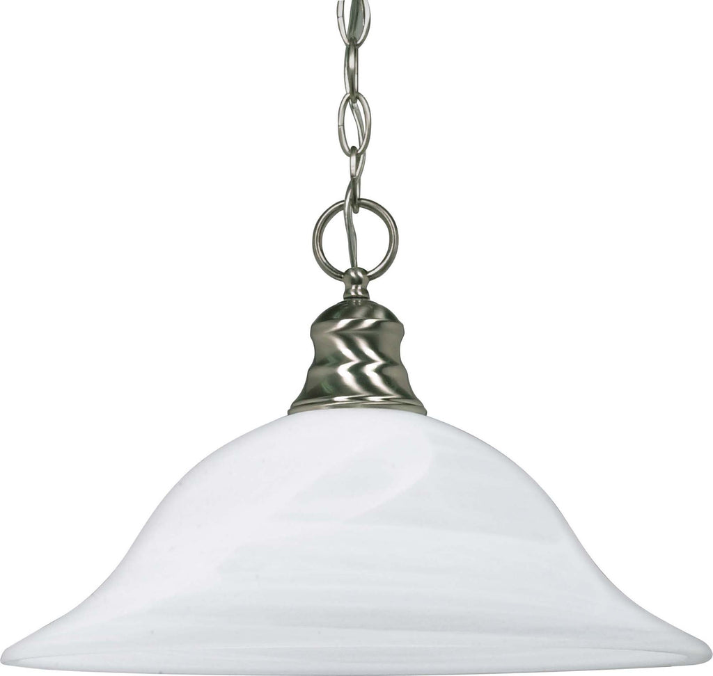Nuvo 1 Light 16 inch Pendant w/ Alabaster Glass - (1) 18w GU24 Lamp Incl.