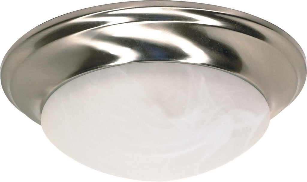 Nuvo 1 Light 12 in Flush Mount Twist & Lock w/ Alabaster Glass -  18w GU24 Lamp