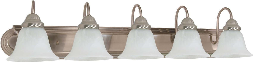 Nuvo Ballerina ES - 5 Light 36 in Vanity w/ Alabaster Glass - (5) 13w GU24 Lamps
