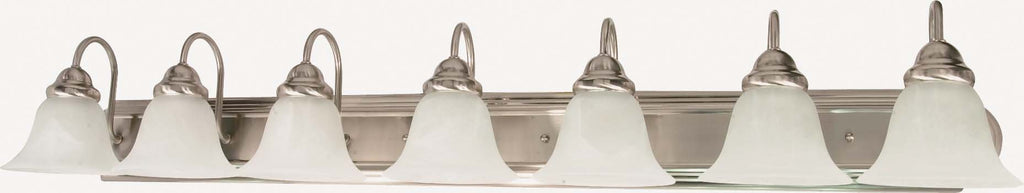 Nuvo Ballerina ES - 7 Light 48 in Vanity w/ Alabaster Glass - (7) 13w GU24 Lamps