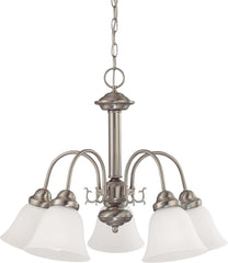Nuvo Ballerina - 5 Light 24 inch Chandelier w/ Frosted White Glass