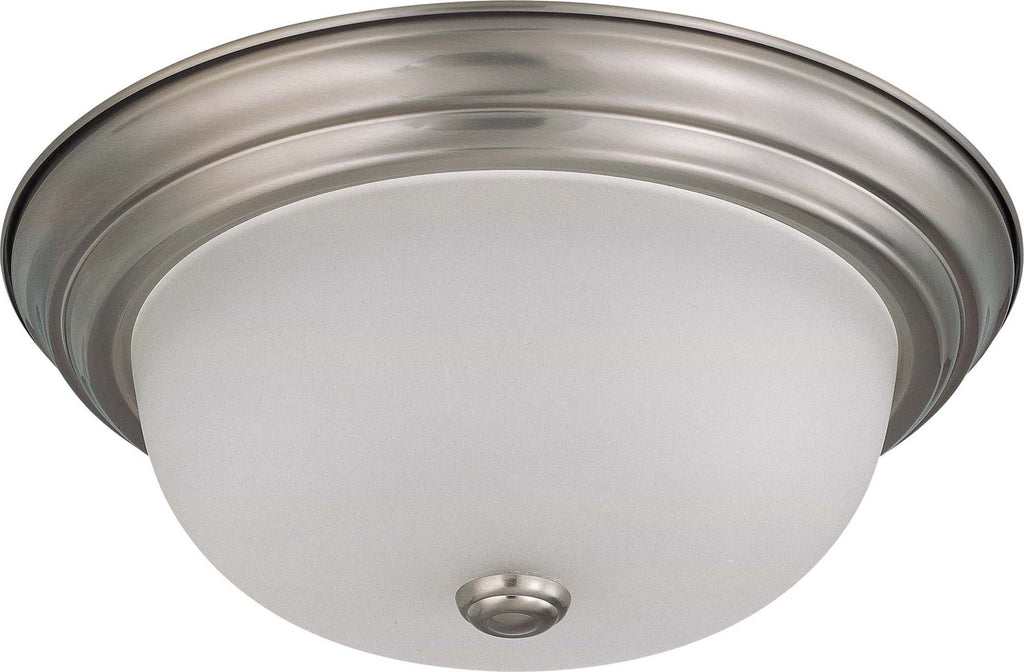 Nuvo 2 Light 13 inch Flush Mount w/ Frosted White Glass - (2) 13w GU24 Lamps Included