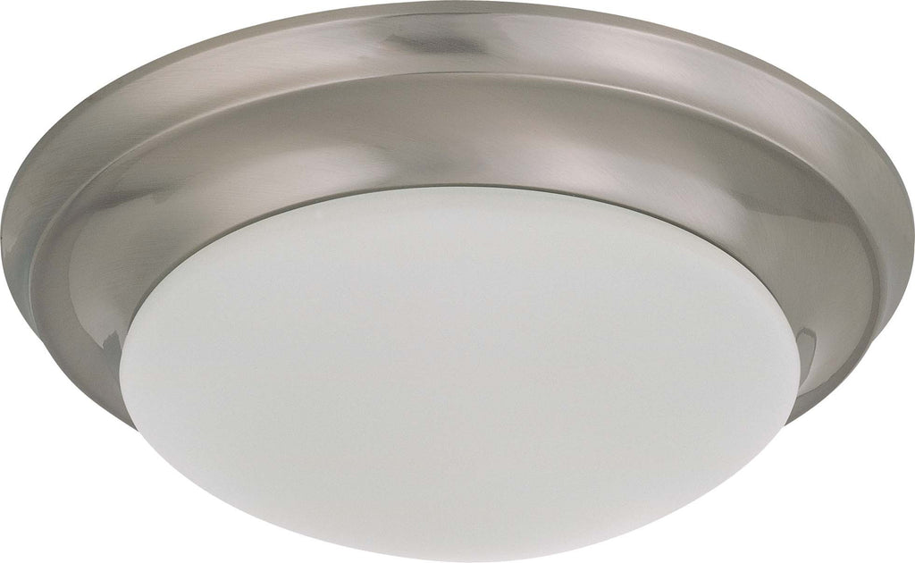 Nuvo 1 Light 12 inch Flush Mount Twist & Lock w/ Frosted White Glass - (1) 18w GU24 Lamp Incl.
