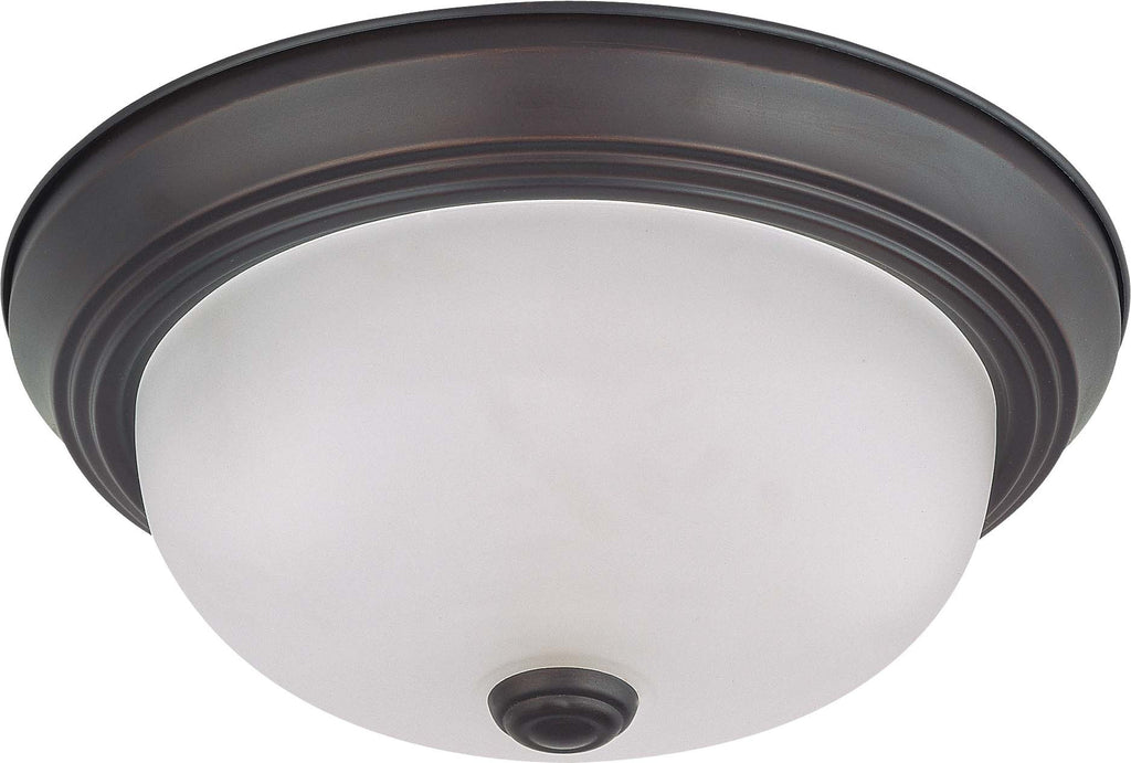 Nuvo 2 Light 11 inch Flush Mount w/ Frosted White Glass - (2) 13w GU24 Lamps Included