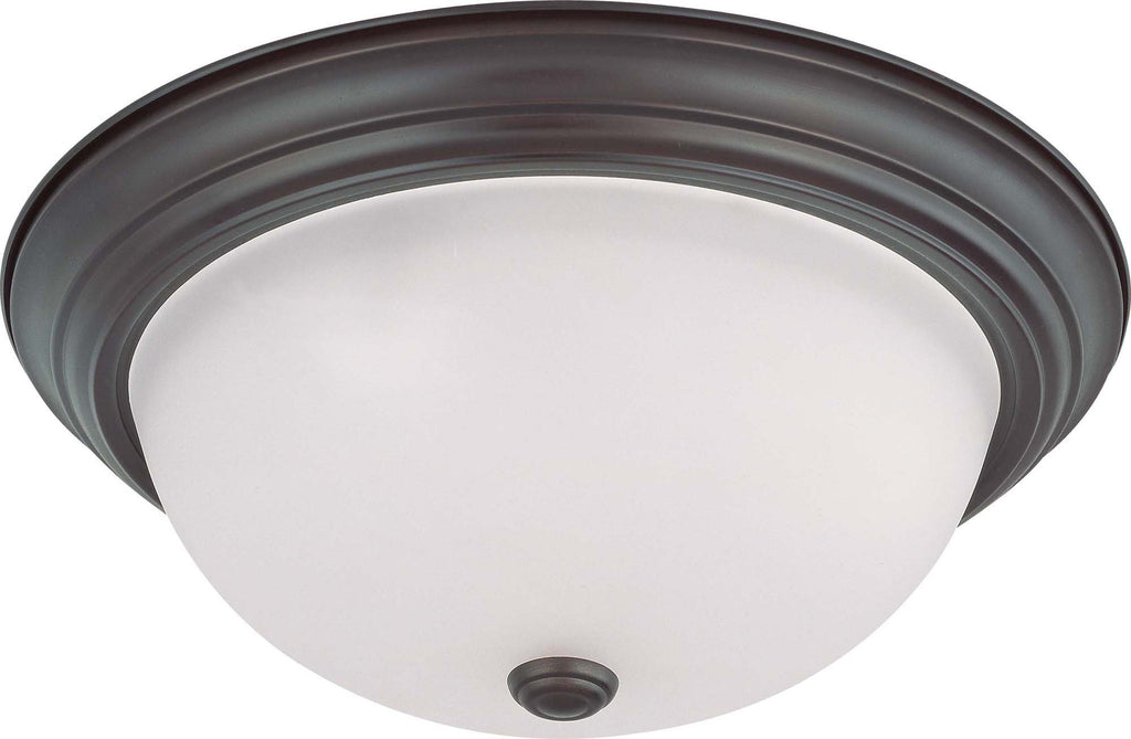 Nuvo 3 Light 15 in Flush Mount w/ Frosted White Glass -   w/ 13w GU24 Lamps