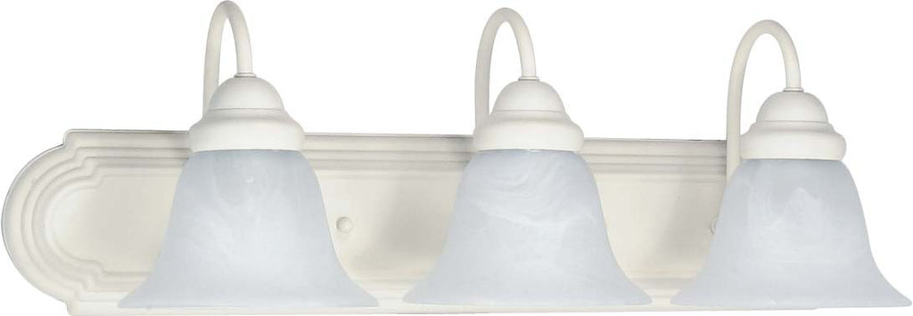 Nuvo Ballerina - 3 Light - 24 inch - Vanity - w/ Alabaster Glass Bell Shades
