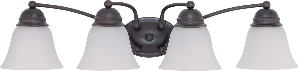 Nuvo Empire ES - 4 Light 29in Vanity w/ Frosted White Glass -  13W GU24 Lamps