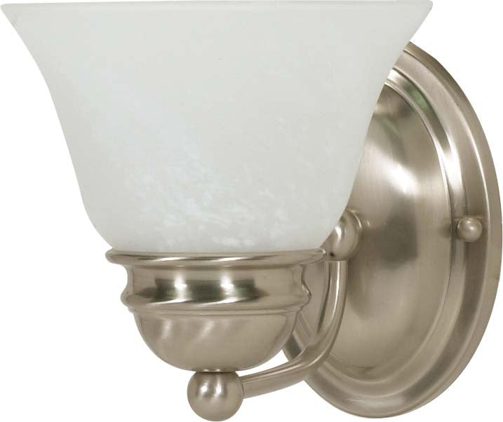 Nuvo Empire - 1 Light - 7 inch - Vanity - w/ Alabaster Glass Bell Shades